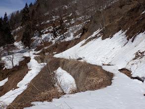 雪は少なく滑り台は無く