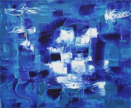 """Photo: """"Autoprotrait"""". Huile sur toile. 38x46cm, format horizontal.l."""