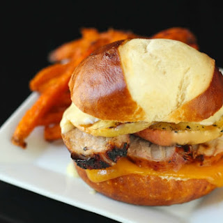 Grilled Pork Loin and Apple Burgers.