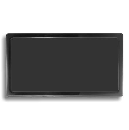 DEMCiflex magnetisk filter 2x140mm, rektangulær, sort