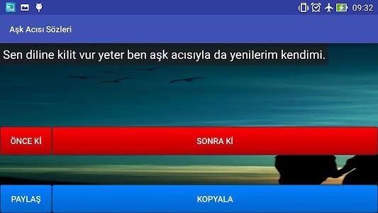 Aşk Acısı Sözleri screenshot 5