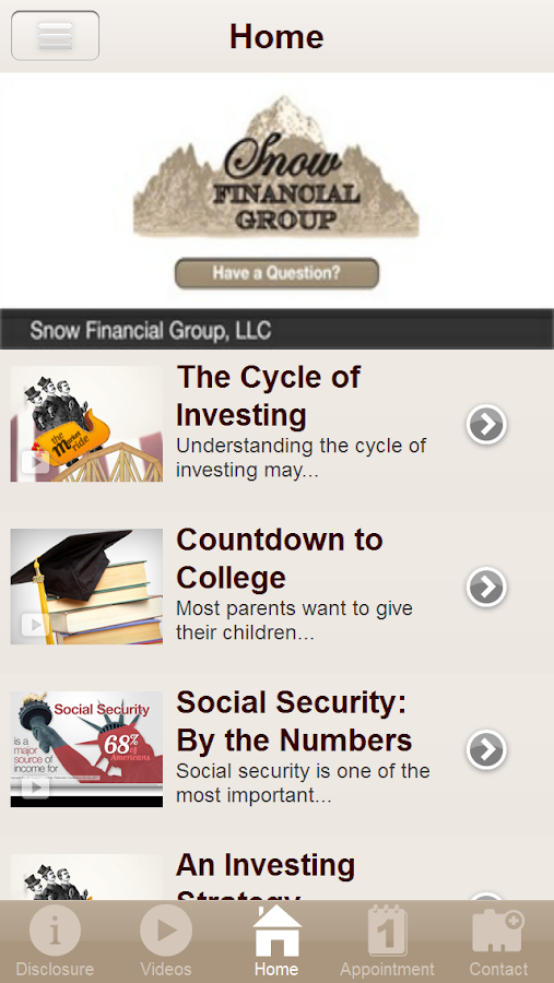 Snow Financial Group, LLC- screenshot