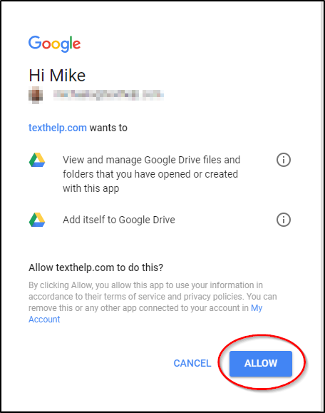 Sign in - Google Accounts Allow Access
