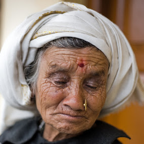 by Santosh Pandey - People Portraits of Women ( senior citizen, face, people )