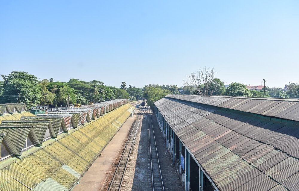 myanmar railway yangon city