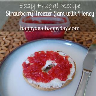 Easy Frugal Recipe | Strawberry Freezer Jam with Honey