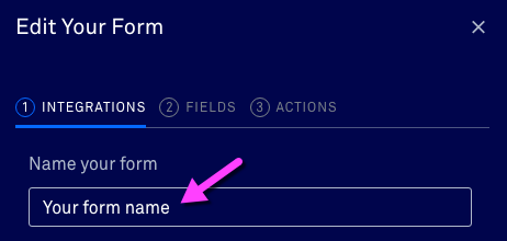 Form name in Leadpages