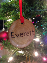 Photo: Everett's very first ornament