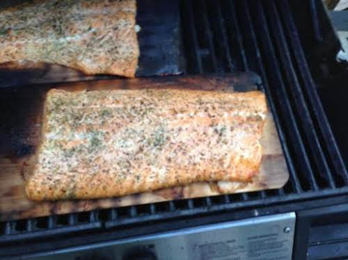 "Cedar Plank Salmon ""Made this salmon this weekend exactly as you outlined..."