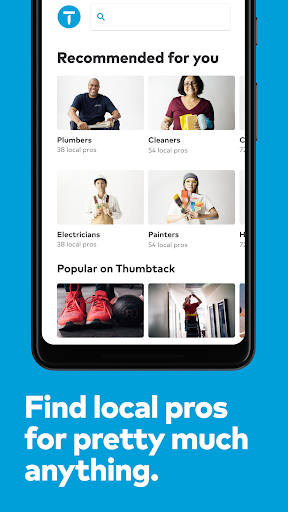 Thumbtack Book pros - handymen, movers & much more 151.0 screenshots 1