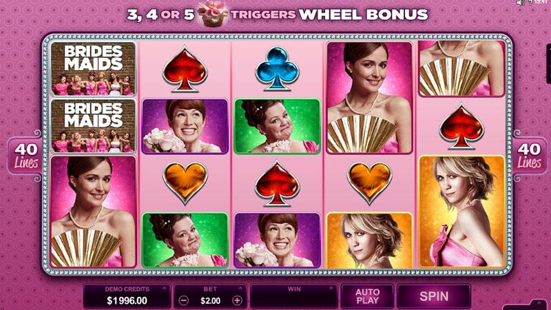 Bridesmaids slot game by Microgaming