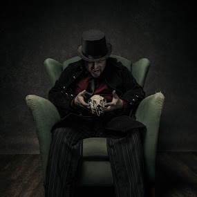 Vampire self portrait by Eric Bureau - People Portraits of Men ( studio, vampire, eric, selfy )