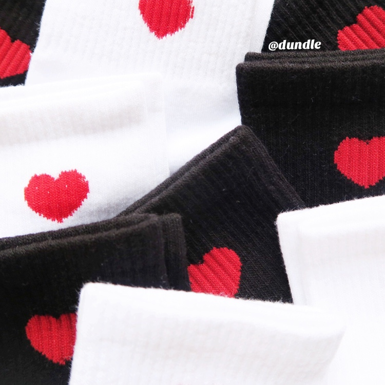 Heart Socks (Black)