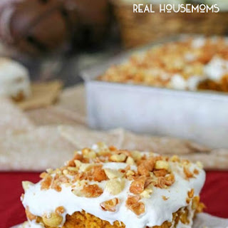 Pumpkin Toffee Poke Cake.