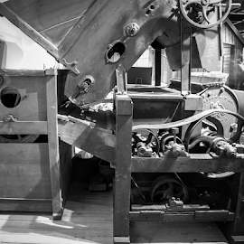 by Myra Brizendine Wilson - Artistic Objects Industrial Objects ( cotton gin, machine )