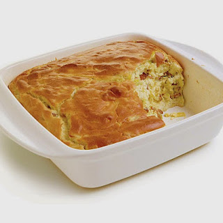 BACON AND LEEK SOUFFLE