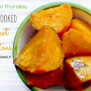 Easy Crock Pot Sweet Potatoes.