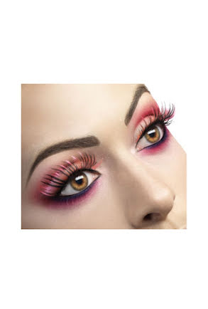 Lösögonfransar, svarta/rosa