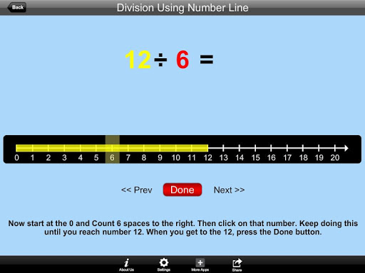 Division Using Number Line Lit