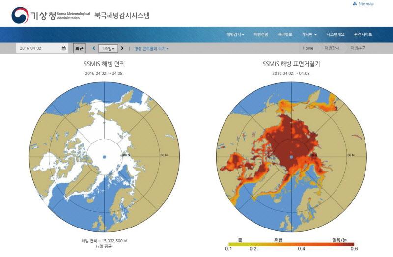 기상청 북극해빙감시시스템