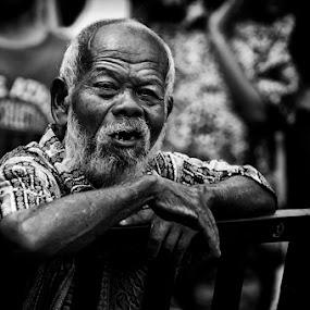 boring by Arief Siswandhono - People Portraits of Men