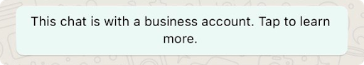 An example of a WhatsApp Business business profile. Source: WhatsApp