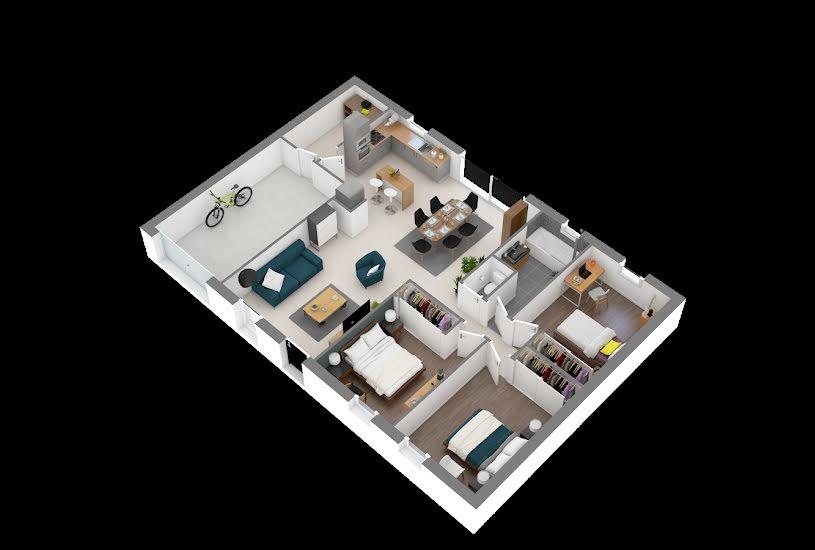 Vente Terrain + Maison - Terrain : 535m² - Maison : 82m² à Chemillé (49120)