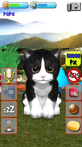 Talking Kittens virtual cat that speaks, take care apkmr screenshots 5