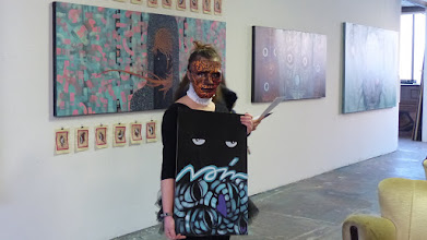 """Photo: Exhibition """"WE ARE THE NIGHT"""" Leo-Leander Namislow aka EINSTRICH; Performance ChapeauClub"""