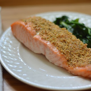Mustard and Dill Crusted Salmon.