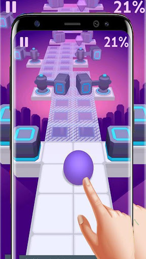 Dance Ball roll road sky Line screenshot 1