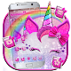 Girly Pink Unicorn Kitty Theme apk