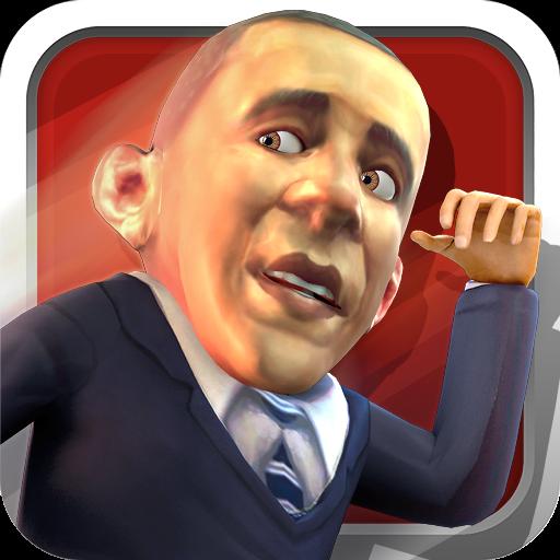 休闲の迅速暴走オバマ LOGO-記事Game