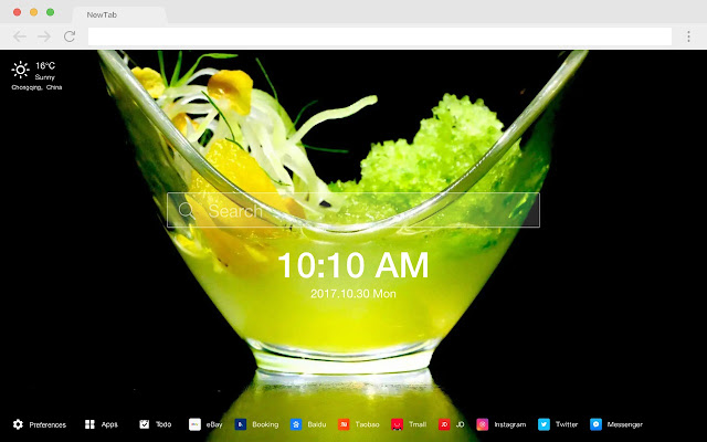 Gourmet New Tabs HD Popular Foods Themes