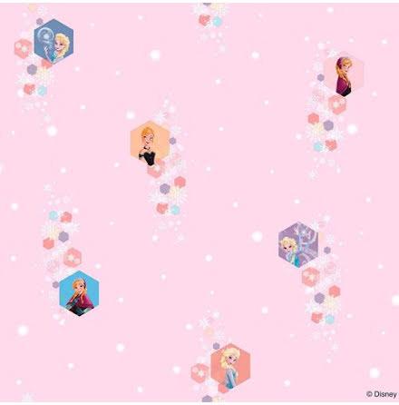 Disney Frost Frozen Tapet i Rosa