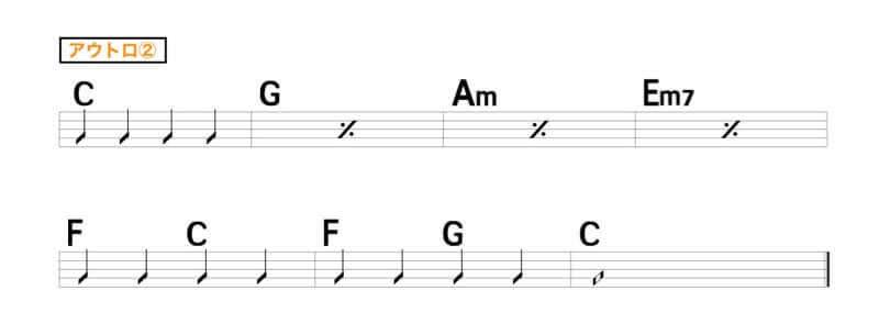 【練習用コード楽譜】 あいみょん「マリーゴールド」の楽譜4