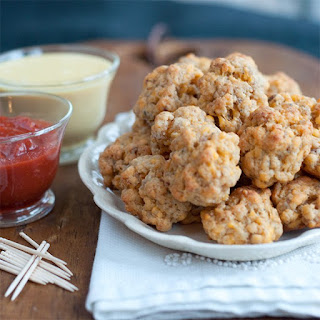Sausage Balls with Two Dipping Sauces Recipe
