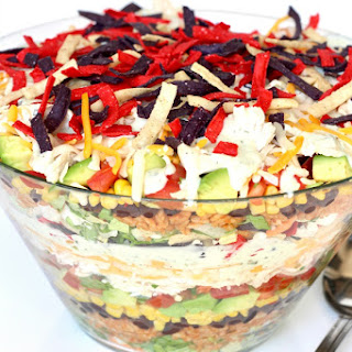 Layered Chicken Taco Salad Recipe