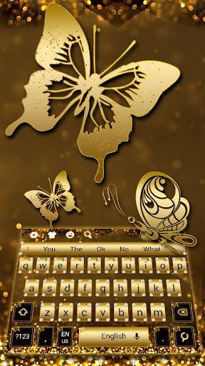 Glitter Diamond Gold Keyboard screenshots 3