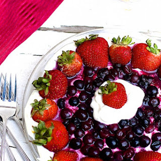 Summer Berry Icebox Pie with Gingersnap Crust (Cool Whip Free).