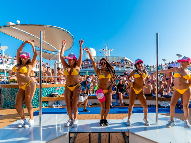 Expect lots of dancing and high-energy entertainment on deck.