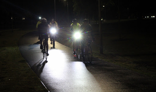 night ride. lights. cycling in the dark. Bicycle network