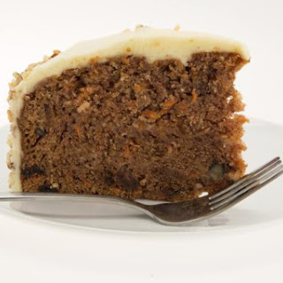 Spiced Carrot Cake with Orange Cream Cheese Glaze