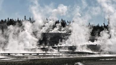 Photo: Mammoth Hot Springs - parc national de Yellowstone -  États-Unis