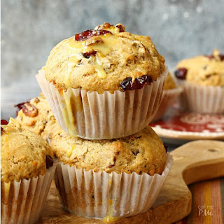 Dried Cranberry Orange Muffins.