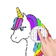 Unicorn Coloring Book - Color by Number apk