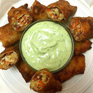 Corned Beef and Cabbage Egg Rolls.