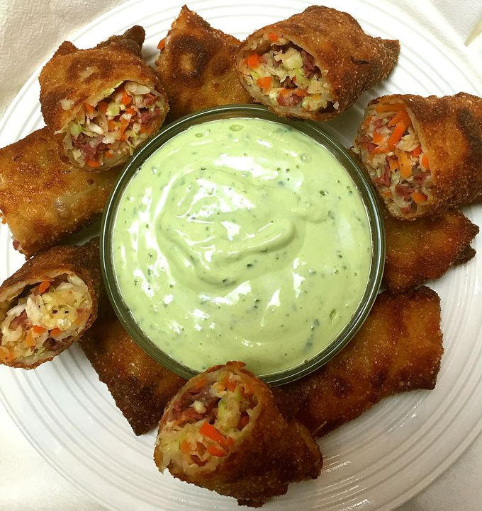 Corned Beef and Cabbage Egg Rolls Recipe