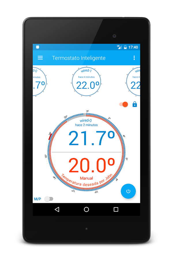 Smart Thermostat with Arduino Yun- screenshot