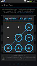 Photo: New pattern lock to protect access to the app. Can also be activated on other apps on rooted device with Xposed framework installed